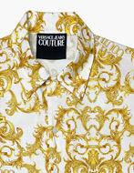 Picture of Versace White Logo Baroque Regular S/S Shirt