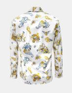 Picture of Versace White Rococo Print Slim Shirt