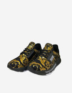 Picture of Versace Black  Logo Baroque Running Shoes