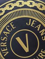 Picture of Versace Gold Logo Emblem Crossbody Bag