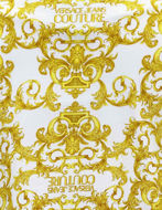 Picture of Versace White Logo Baroque Contrast Print Regular Tee