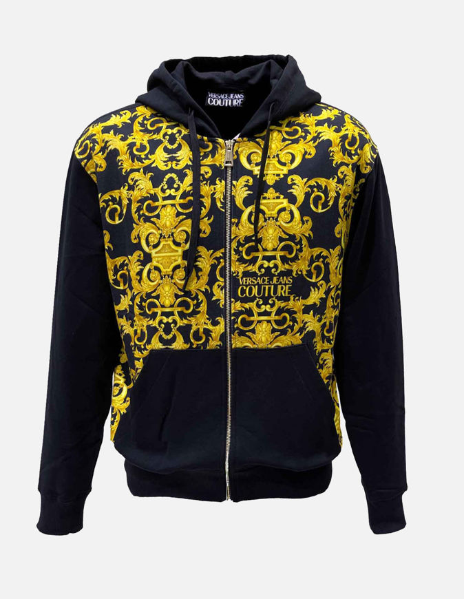 Picture of Versace Barocco Print Sweat Jacket