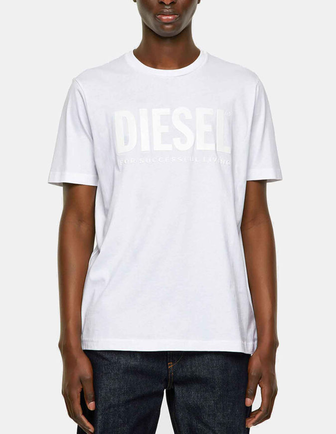 Picture of Diesel Emboss Logo White Tee
