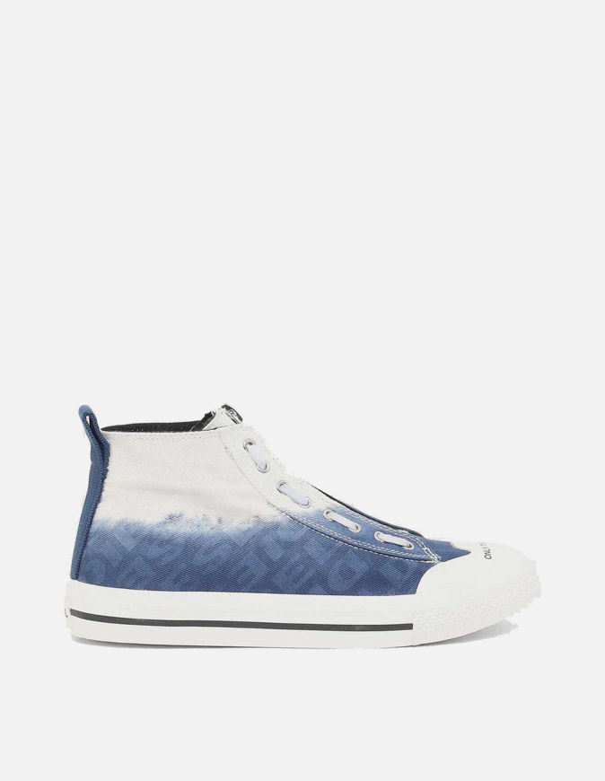 Picture of Diesel Astico Mid-Zip Blue Sneaker