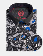 Picture of Au Noir Walton Cotton Floral Short Sleeve Stretch Polo