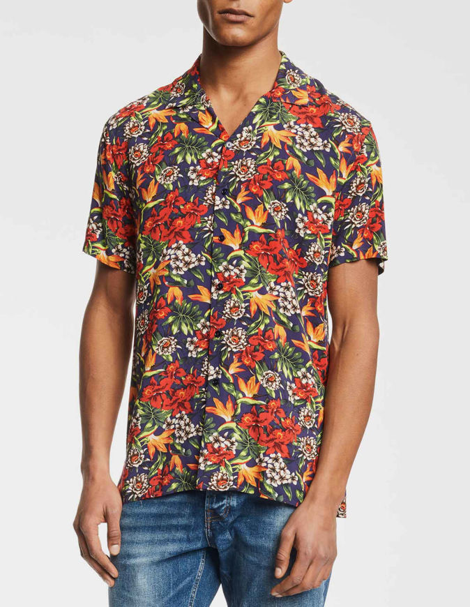 Picture of Gaudi Floral Print Bowling Short Sleeve Shirt