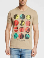 Picture of Gaudi Multi Colour Print Short Sleeve Tee