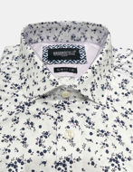 Picture of Brooksfield Navy Floral Print Luxe White Shirt